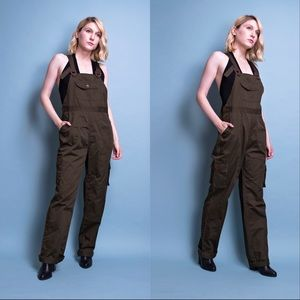 Vintage 90s army green work wear overalls